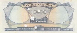 Congo Democratic Republic, 1000 Francs, 1964, UNC, p8, CANCELLED