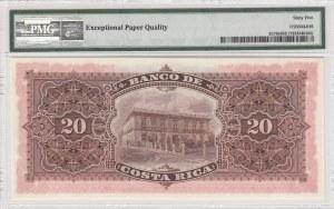 Costo Rica, 20 Colones, 1906, UNC, pS179r