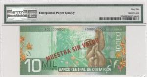 Costa Rica, 10.000 colones, 2009, UNC, p277s, SPECİMEN
