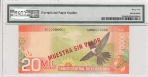 Costa Rica, 20.000 colones, 2009, UNC, p278s, SPECİMEN