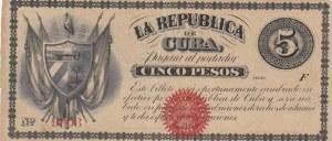 Cuba, 5 Pesos, 1869, VF (-), p56