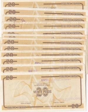 Cuba, 20 Pesos, 1985, VF / UNC (-) (Total 38 banknotes)