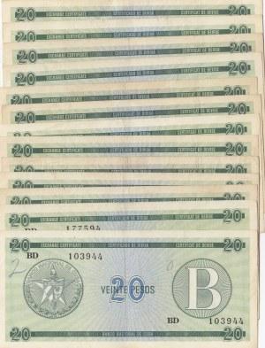 Cuba, 20 Pesos, 1985, VF / AUNC (Total 37 banknotes)