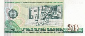 Democratıc Germany Republic, 20 Mark, 1975, UNC, p29