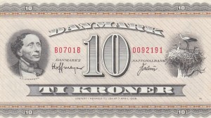 Denmark, 10 Kroner, 1952, AUNC, p43f