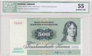 Denmark, 500 Kroner, 1988, AUNC, p52d