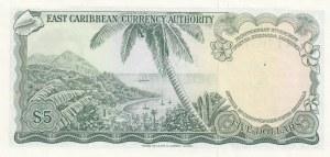 East Caribbean, 5 Dollars, 1974, UNC, p14h