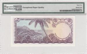 East Caribbean, 20 dollars, 1965, UNC, p15g