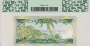 Eastern Caribbean, 5 Dollars, 1986, UNC, p18m