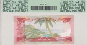 East Caribbean, 1 Dollar, 1988-1989, UNC, p21u