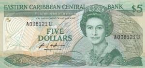 East Caribbean, 10 Dollars, 1988, UNC, p22u