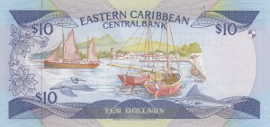 East Caribbean, 10 Dollars, 1985, UNC, p23k1