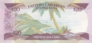 East Caribbean, 20 Dollars, 1986, UNC, p24a2