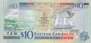 East Caribbean, 10 Dollars, 1994, UNC, p32u