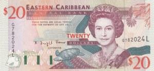 East Caribbean, 20 Dollars, 1994, UNC, p33l