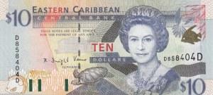 East Caribbean, 10 Dollars, 2000, UNC, p38d