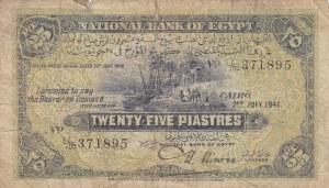 Egypt, 25 Piastres, 1941, POOR, p10c