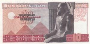 Egypt, 10 Pounds, 1969-1978, UNC, p46