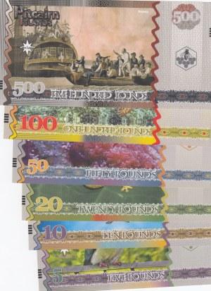 Pitcairn Island, 5 Dollars, 10 Dollars, 20 Dollars, 50 Dollars, 100 Dollars and 500 Dollars, 2018, UNC, FANTASY BANKNOTES, (Total 6 banknotes)