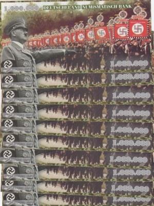 Adolf Hitler, 1.000.000 Mark, UNC, FANTASY BANKNOTES, (Total 10 banknotes)