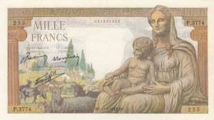 France, 1000 Francs, 1943, UNC, p102