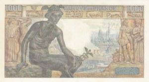 France, 1000  Francs, 1942, UNC, p102