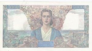 France, 5.000 Francs, 1945, XF-AUNC, p103c