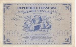 France, Tresor Central, 100 Francs, 1943, XF, p105