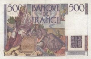 France, 500 Francs, 1945, XF, p129a