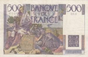 France, 500 Francs, 1946, XF, p129a