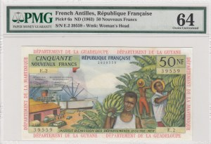 French Antilles, 50 New Francs, 1963, UNC, p6a