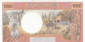French Pasific Territories, 1000 Francs, 1996, UNC, p2i
