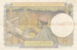 French West Africa, 5 Francs, 1936, XF, p21