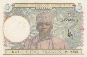 French West Africa, Afrique Occidentale Française, 5 Francs, 1942, UNC, p25