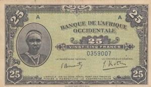 French West Afrıca, 10 Francs, 1942, XF (-), p30