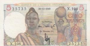 French West Africa, Afrique Occidentale Française, 5 Francs, 1949, UNC, p36