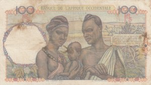 French West Africa, Afrique Occidentale Française, 100 Francs, 1948, XF (-), p40