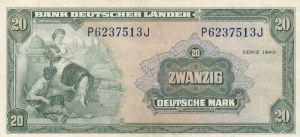 Germany, 20 Mark, 1949, XF (+), p17