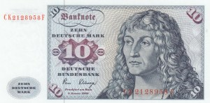Germany, 10 Mark, 1980, UNC, p31d
