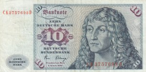 Germany, 10 Mark, 1980, VF, p31d