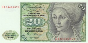 Germany, 20 Mark, 1980, UNC, p32d