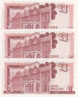 Gibraltar, 1 Pound (3), 1988, UNC, p20e, (Total 3 banknotes)