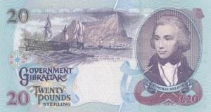 Gibraltar, 20 Pounds, 1995, UNC, p27