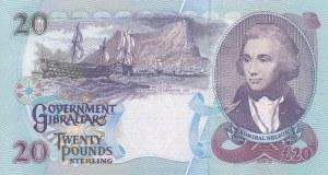 Gibraltar, 20 Pounds, 1995, UNC, p27a