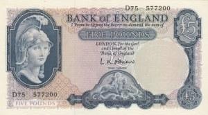 Great Britain, 5 Pound, 1957-1961, UNC, p371