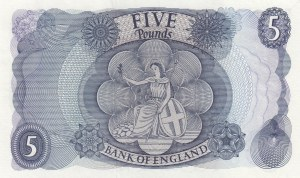 Great Britain, 5 Pounds, 1963, AUNC, p375a