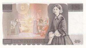 İngiltere, 10 Pounds, 1984, AUNC, p379c