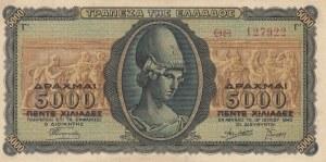 Greece, 5000 Drachmai, 1943, UNC (-), p122