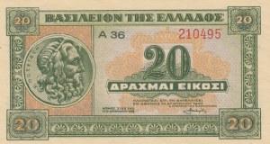 Greece, 20 Drachmai, 1940, UNC, p315