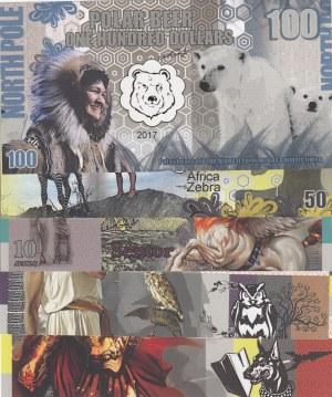 Greek Mythology, 1-5-10-50-100 Apaxmi, 2017, UNC, (Total 5 banknotes)